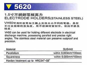 精展1.5寸不锈钢电极万力