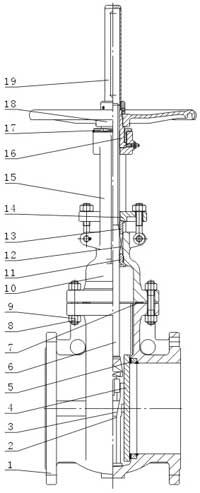 自动补偿平衡式双平板闸阀
