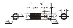 ER-VAJK 形状保持管连接喷嘴(另售)