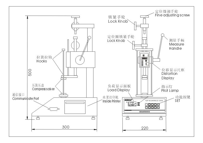 SD-300、SD-500数显弹簧拉压试验机(价格特优)