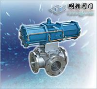 氣動三通球閥/Q644F-16C 三通不銹鋼球閥