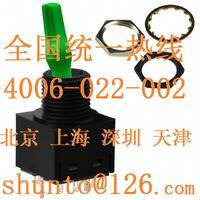 进口带灯钮子开关型号TL22DFAW015F发光扭子开关NKK绿色LED带灯摇头开关 TL22DFAW015F