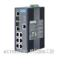 研华 EKI-2748CI/FI 6Gx+2 Combo 宽温网管型工业以太网交换机 EKI-2748CI/FI