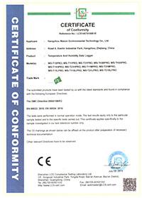 WS-PRO系列記錄儀CE證書