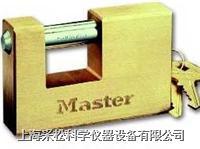 实心方形黄铜挂锁 Master lock,608,85mm宽锁体,12mm粗锁钩,大号