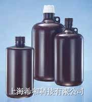 美國Nalgene 2204大容量琥珀色窄口瓶,琥珀色聚丙烯;琥珀色聚丙烯螺紋蓋 2204
