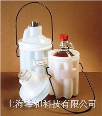 美國Nalgene 6501安全瓶子運載容器,低密度聚乙烯;聚碳酸酯蓋;環氧樹脂外套手柄 6501