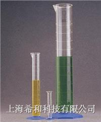 美國Nalgene 3663帶刻度量筒,聚甲基戊烯;藍色聚丙烯底座 3663