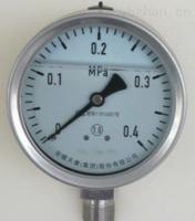 轴向带前边不锈钢压力表 Y-153B-F