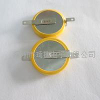 QIJIE品牌原裝激光CR2032貼片帶焊腳紐扣電池激光焊腳對外加工 CR2032