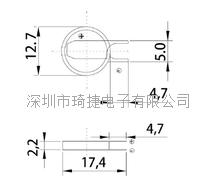 寬溫電池CR1220激光焊腳