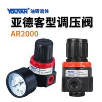 氣源處理器亞德客型 AR2000 不帶接頭, AR2000 帶2只PC6-02, AR2000 帶2只PC8-02