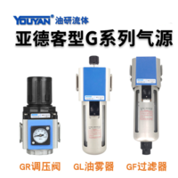 氣源處理調壓閥 GR200-08 不帶接頭, GR200-08 帶2只PC4-G02