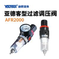 亞德客型油水分離器 AFR2000 不帶接頭, AFR2000 帶2只PC6-02, AFR2000 帶2只PC8-02