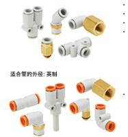 日本SMC黃銅橢圓形/圓形接頭 KQ2C08-00A