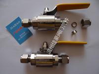 QG.QY1-64P 304SS G1/2-¢8 PN63 不銹鋼內螺紋轉卡套式氣源球閥 氣源球閥