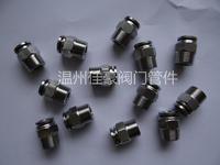 精品優質PC8-02 304 316不銹鋼外螺紋卡套式插入快插氣動氣管氣源快插直通接頭 PC8-02 PC10-02 PC12-02 PC6-02 PC14-02