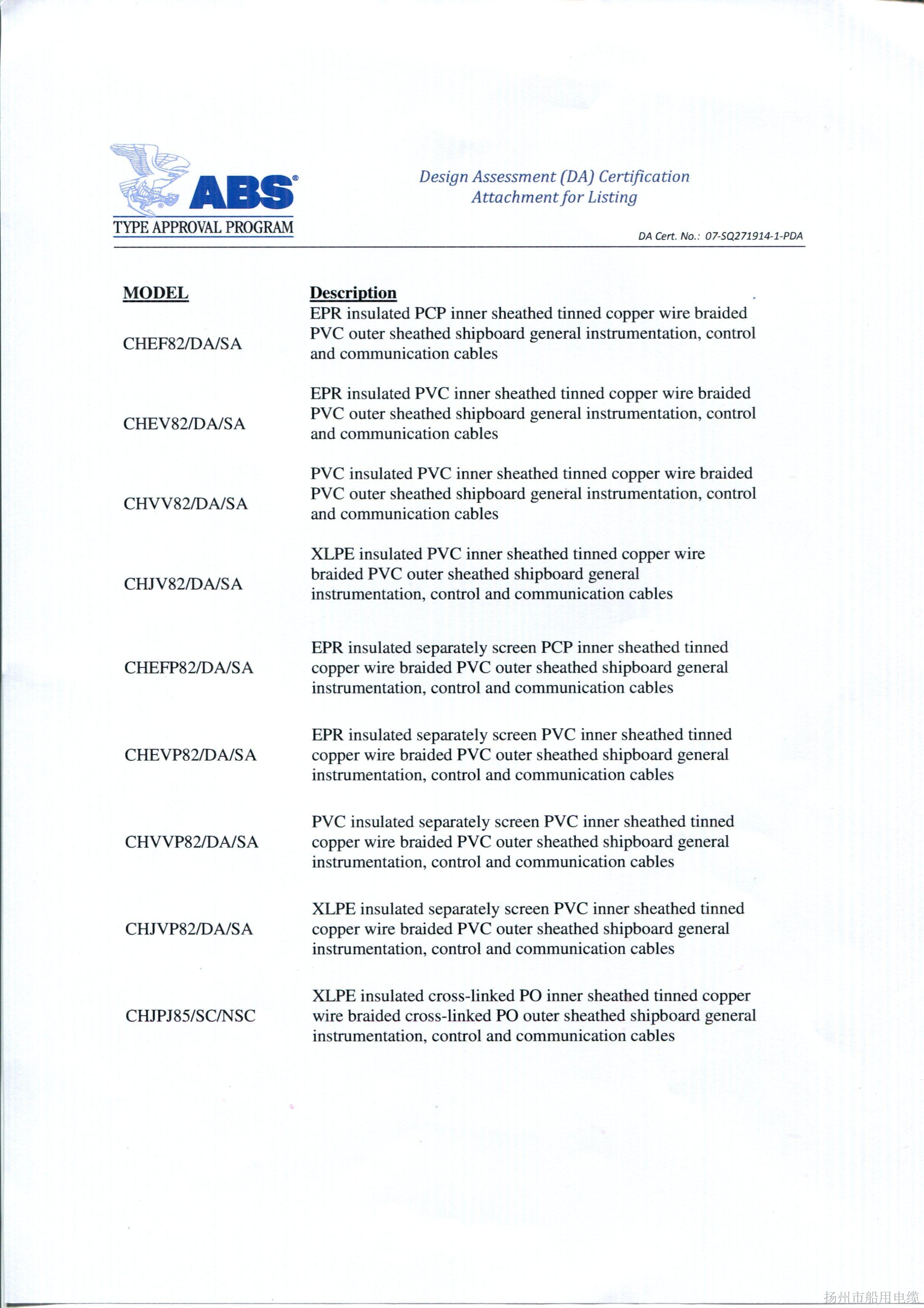 ABS证书10