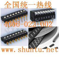 NKK开关JS01-08微型滑动开关型号JS0108AP4琴键开关琴键式开关DIP switch指拨开关 JS0108AP4