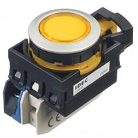 和泉Idec代理带灯自复位按钮开关CW4L-M1E10Q4-Y CW4L-M1E10Q4Y