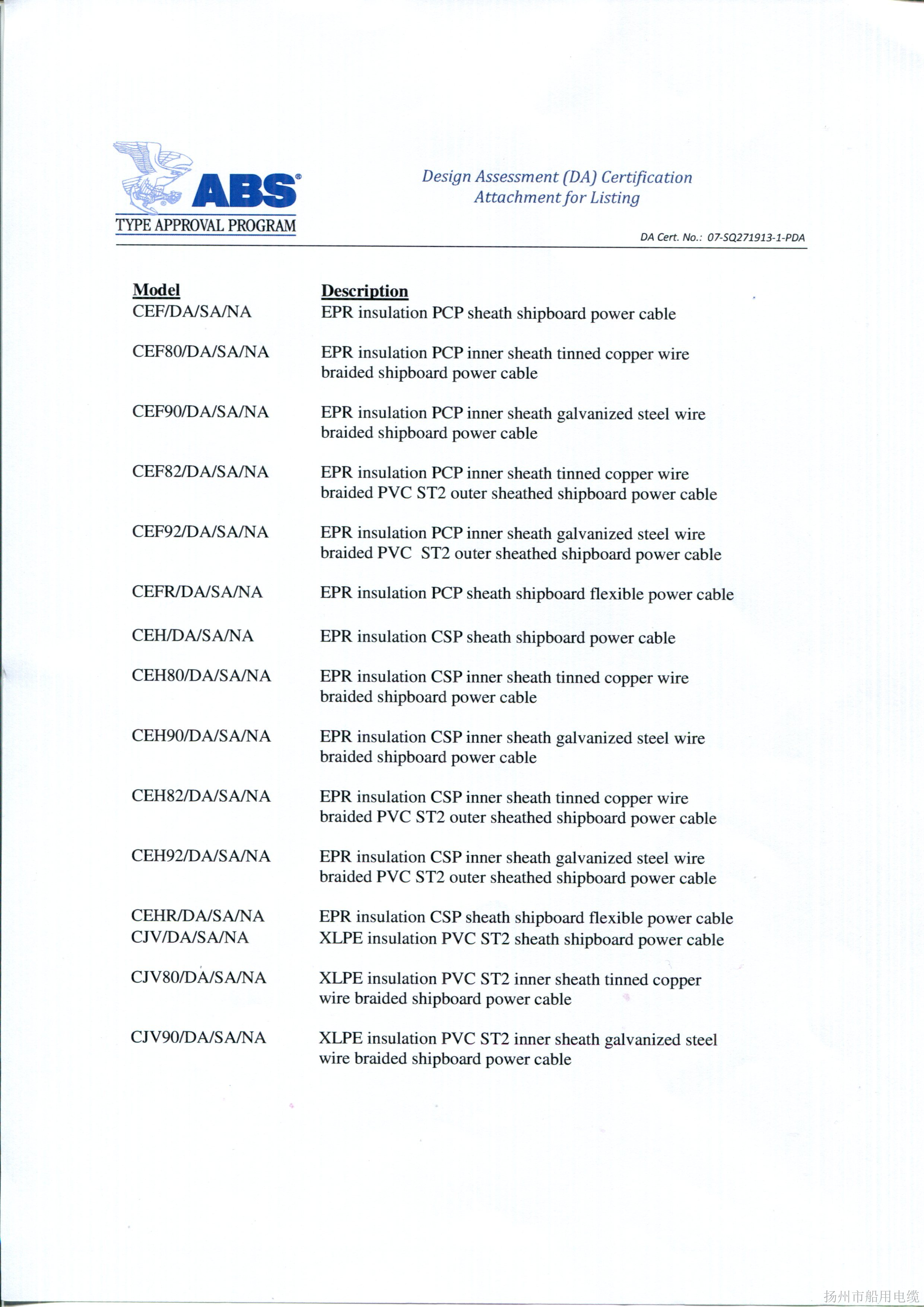 ABS证书4